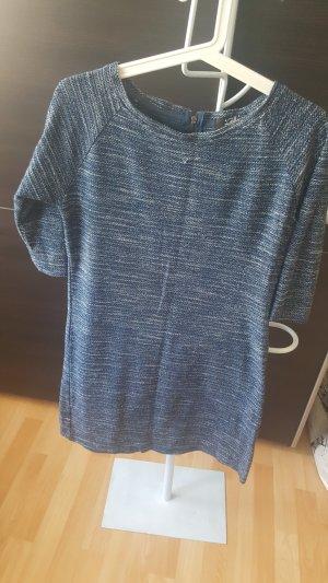 Abito maglione blu acciaio