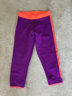 Adidas by Stella McCartney Sportbroek donkerpaars-neonoranje