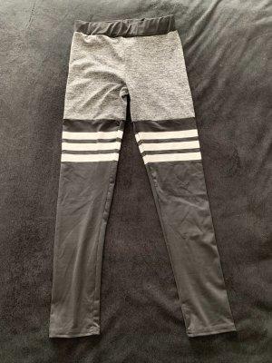 Leggings negro-gris claro