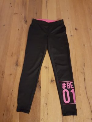 Legging noir-rose