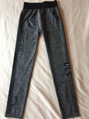 Legging gris foncé-noir