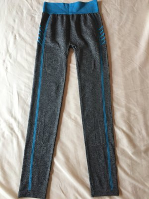 Legging gris foncé-bleu fluo