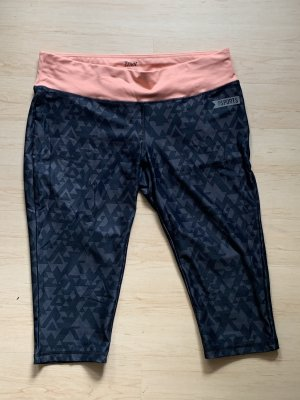 Crivit Legging donkerblauw-roze