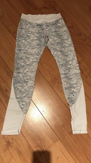 Pantalon de sport blanc-argenté