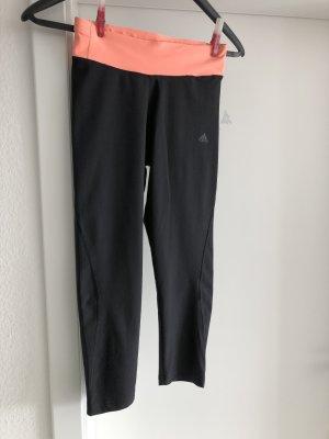 Adidas Leggings negro-naranja neón