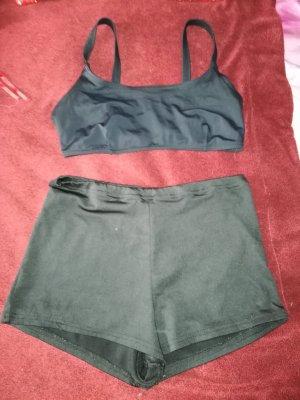 Sport Outfit schwarz Gr 38 M/L