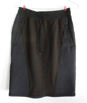 Sport Rock Marc Cain Größe 3 M 40 Schwarz Braun Schurwolle Neopren Minirock Skirt Pencilrock