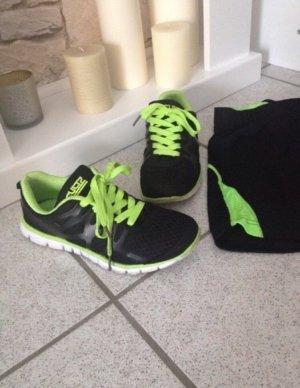 Sport Schuhe - Schwarz Grün