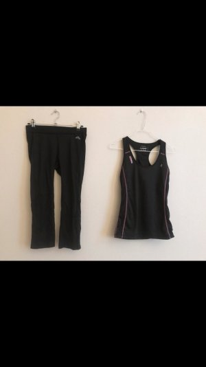 Sport Set Top + 3/4 Hose schwarz S 36
