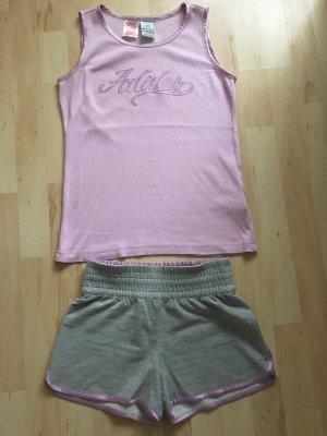 Adidas Camisa deportiva malva-gris claro