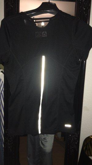 Camisa deportiva negro-color plata