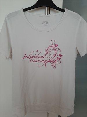 active Sports Shirt white-violet