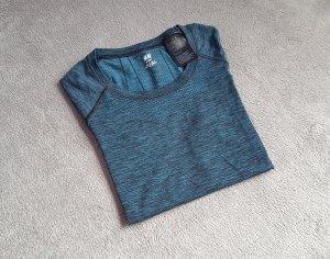 H&M Sports Shirt petrol mixture fibre