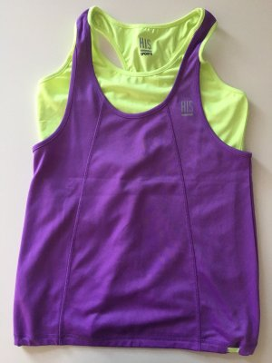 H.I.S Sports Shirt purple-neon green