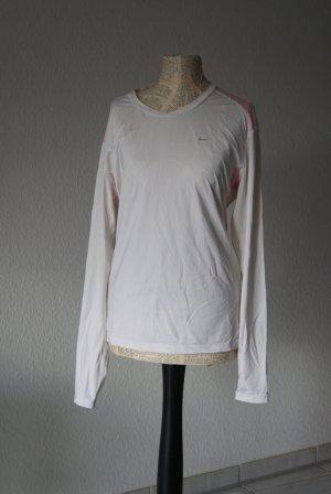Nike Manica lunga bianco-rosa chiaro Fibra sintetica
