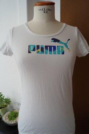 Sport Shirt von Puma Gr. 36 weiß