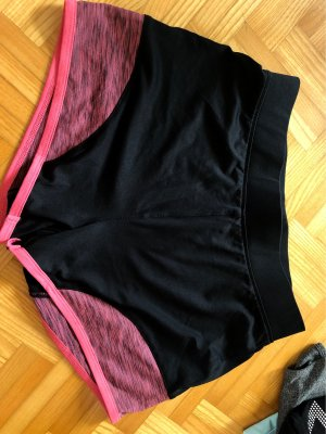 Sport Shorts black-neon pink