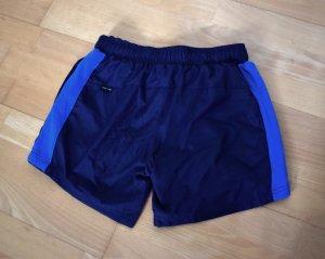 Sport Shorts kurze Hose in Blau mit Netzeinsatz