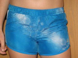 Sport-Shorts von ADIDAS, GR. 152, blau-weiß