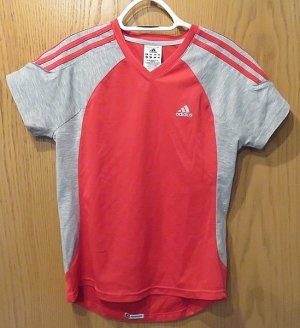 Adidas Sports Shirt light grey-red