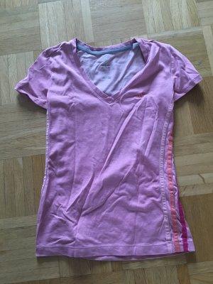 Sport T-Shirt Adidas in rosa, XS, V-Ausschnitt