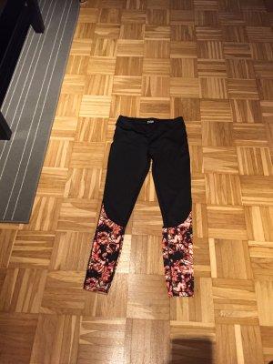 Sport tights mit muster , rot abgesetzt