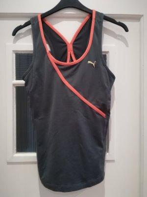 Puma Sportshirt grijs-licht Oranje