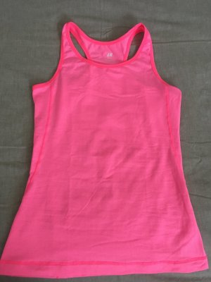H&M Sporttop neonroos Polyester