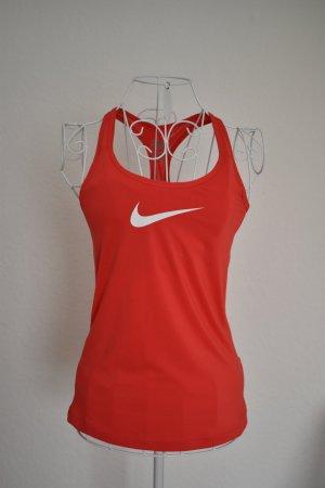 Nike Sporttop rood Gemengd weefsel