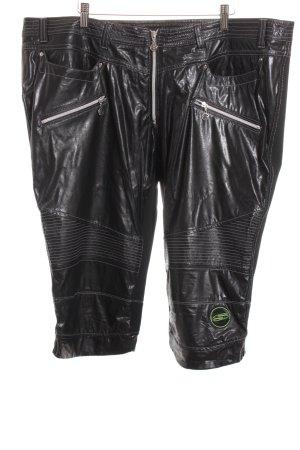 Sportalm 3/4-Hose schwarz-silberfarben Logo-Applikation aus Metall