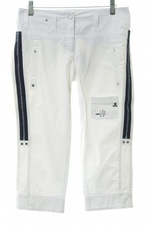 Sportalm 3/4-Hose weiß-dunkelblau Marine-Look