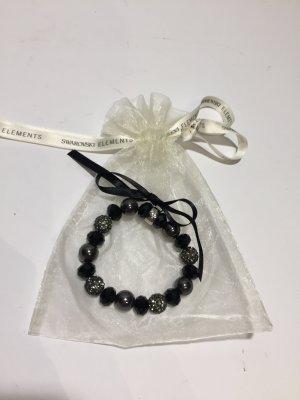 Sportalm Armband mit Swarovski-Steinen - schwarz