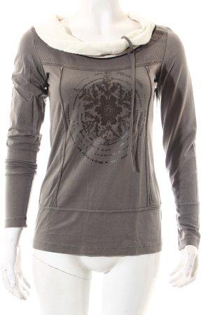 Sportalm Carmenshirt grau-wollweiß sportlicher Stil