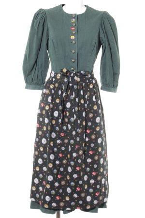 Sportalm Dirndl waldgrün-dunkelgrün Blumenmuster Country-Look