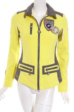 Sportalm Fleecejacke gelb-grau sportlicher Stil
