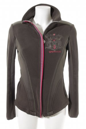 Sportalm Fleece Jackets khaki-magenta athletic style