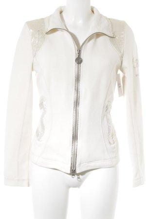 Sportalm Veste polaire blanc cassé-argenté motif animal élégant