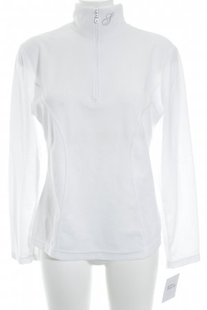 Sportalm Fleecepullover weiß-hellgrau sportlicher Stil