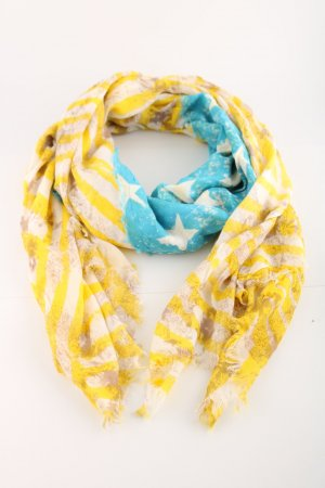 Sportalm Fringed Scarf mixed pattern casual look
