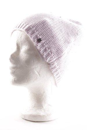 Sportalm Gorro tejido rosa empolvado estilo romántico