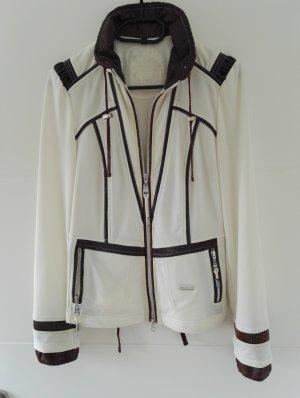 Sportalm Jacke, creme-braun, Größe 38/M, Sportjacke / Trainingsjacke / Blazer