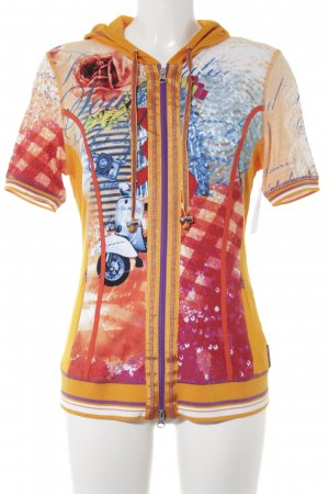 Sportalm Shirt met capuchon abstract patroon casual uitstraling