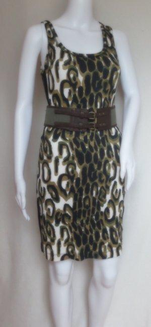 Sportalm Kitzbühel Damen elegantes Leopard Etuikleid, Sommerkleid, Partykleid Animal Look