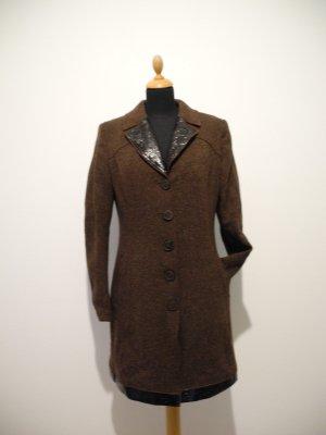 Sportalm Kitzbühel Outdoor Mantel Luxus braun Wolle Virgin wool Luxus Winter edel Designer zeitlos schick