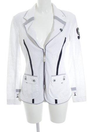 Sportalm Kurz-Blazer weiß-dunkelblau extravaganter Stil
