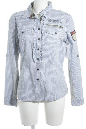 Sportalm Langarmhemd weiß-himmelblau Streifenmuster Casual-Look
