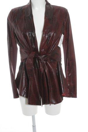 Sportalm Long Blazer dark red-black animal pattern extravagant style