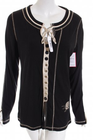 Sportalm Longshirt schwarz-creme Casual-Look