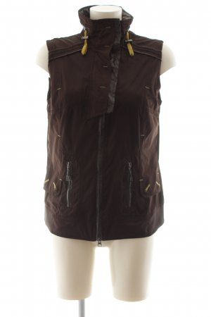 Sportalm Long Knitted Vest brown casual look