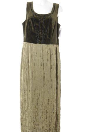 Sportalm Vestido largo verde oliva-gris verdoso estampado floral estilo clásico
